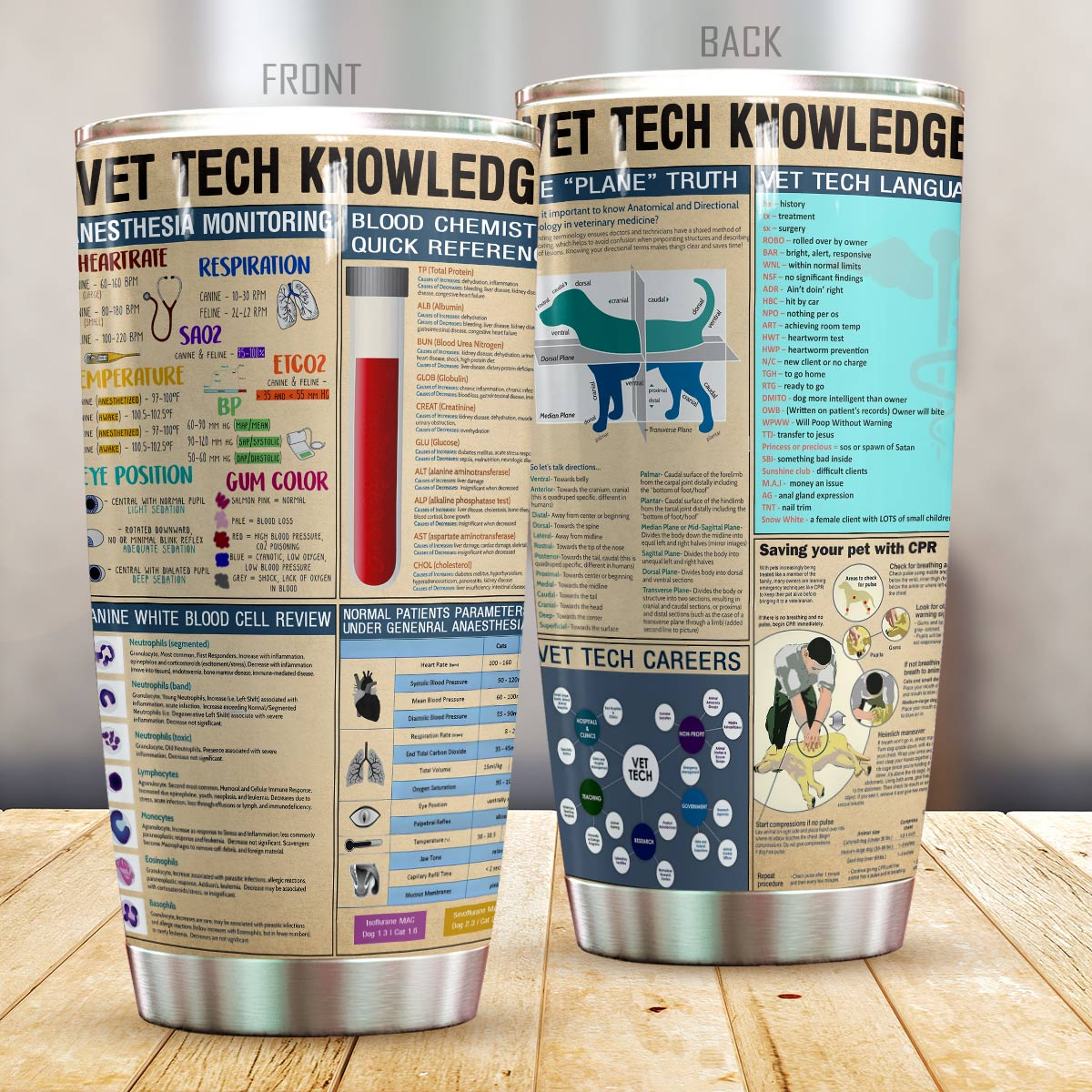 Vet tech knowledge all over printed tumbler 1