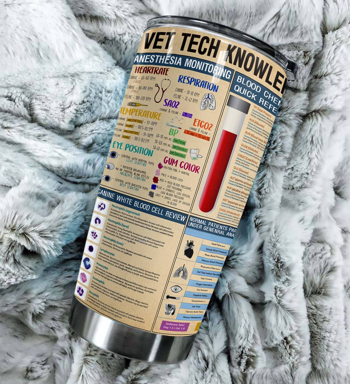 Vet tech knowledge all over printed tumbler 2