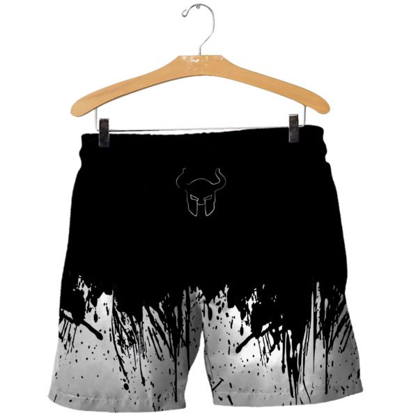 Viking art 3d all over printed shorts