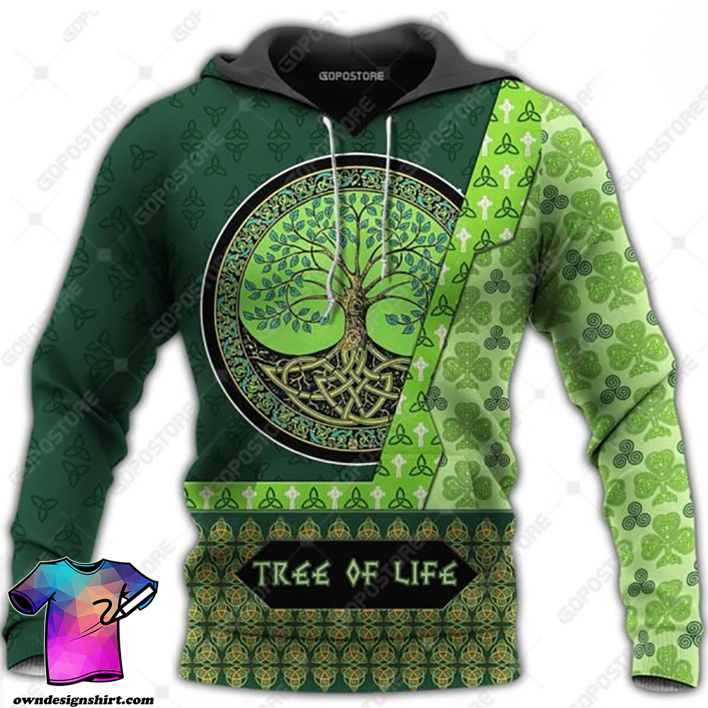 Viking art tree of life 3d all over printed shirt