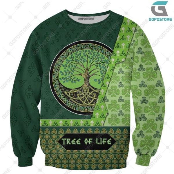 Viking art tree of life 3d all over printed sweatshirt