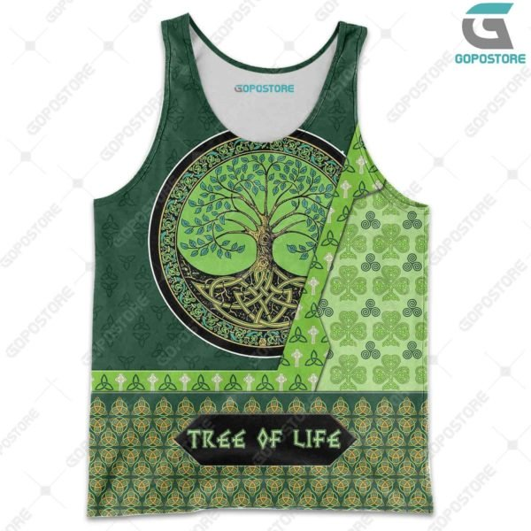 Viking art tree of life 3d all over printed tank top