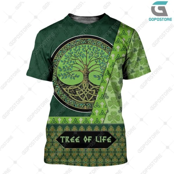 Viking art tree of life 3d all over printed tshirt