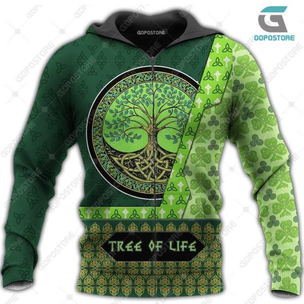 Viking art tree of life 3d all over printed zip hoodie