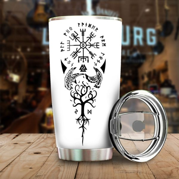 Viking tree of life stainless steel tumbler 2
