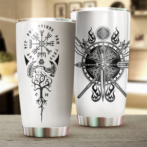 Viking tree of life stainless steel tumbler 3