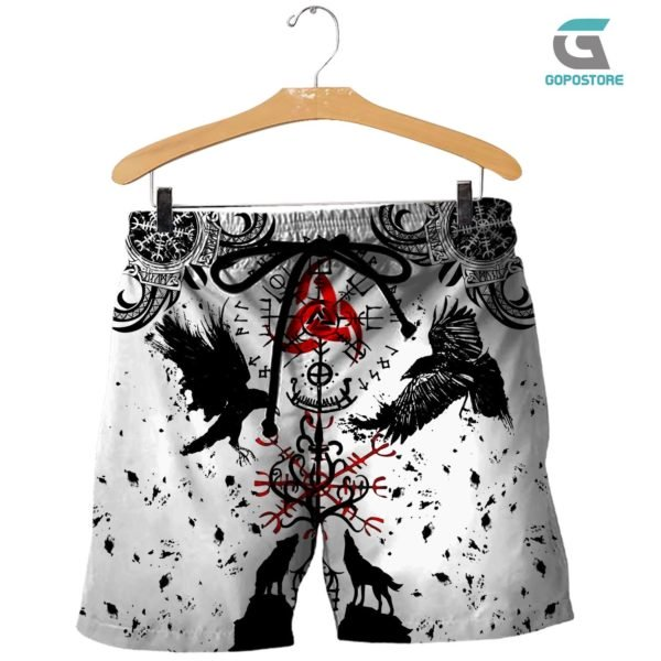 Vikings tattoo 3d all over printed shorts