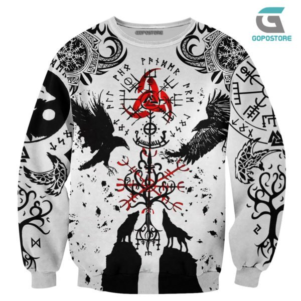 Vikings tattoo 3d all over printed sweatshirt