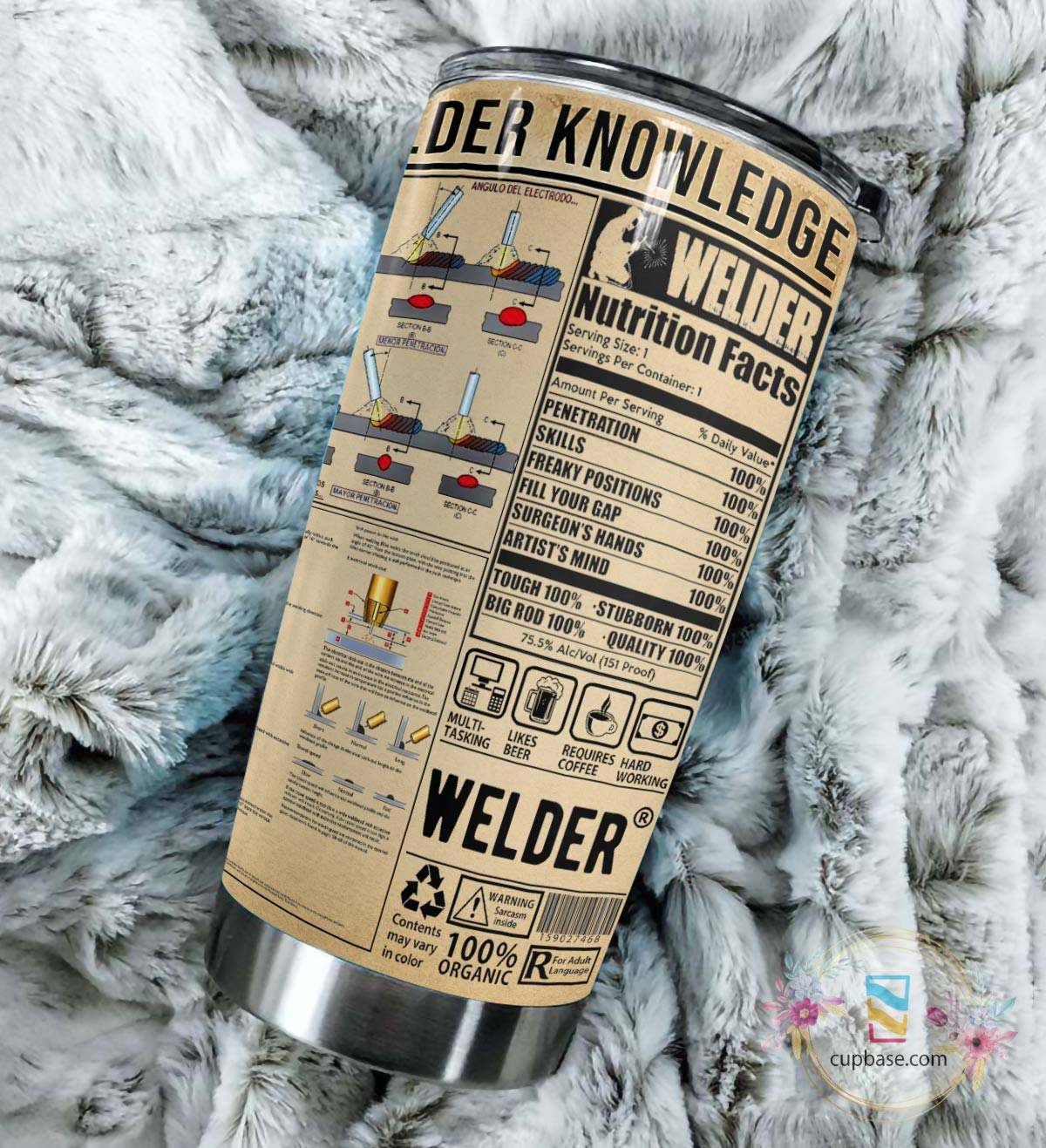 Welder knowledge all over printed tumbler 4