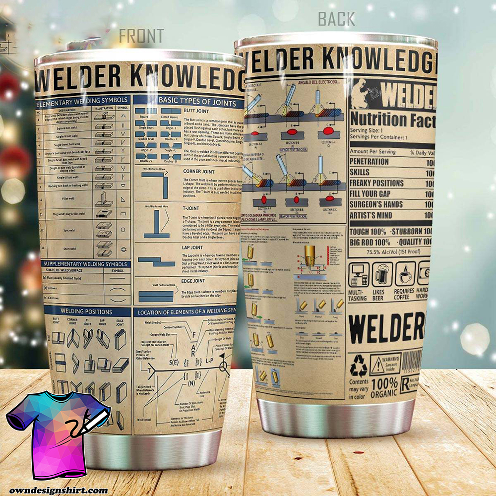 Welder knowledge all over printed tumbler