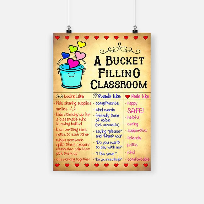 A bucket filling classroom poster 2