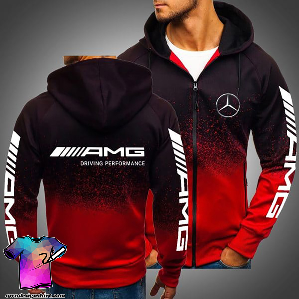 AMG driving performance mercedes-benz all over printed shirt
