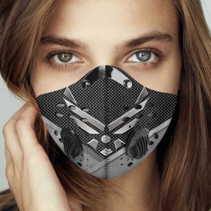 Airforce wings filter activated carbon face mask 4