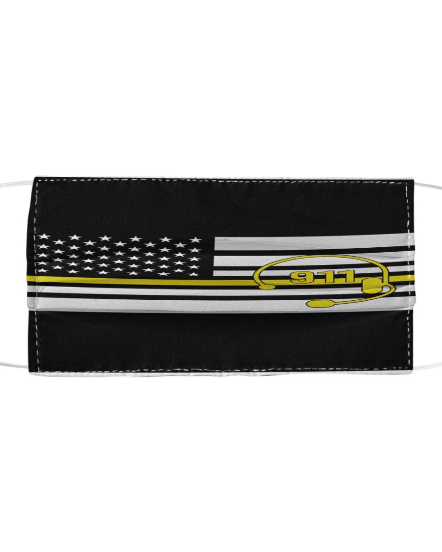 American flag call 911 anti-dust cotton face mask 1