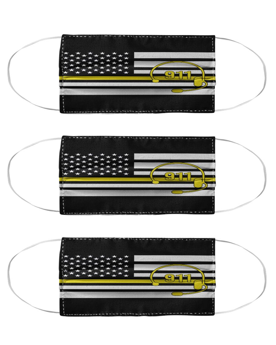 American flag call 911 anti-dust cotton face mask 2