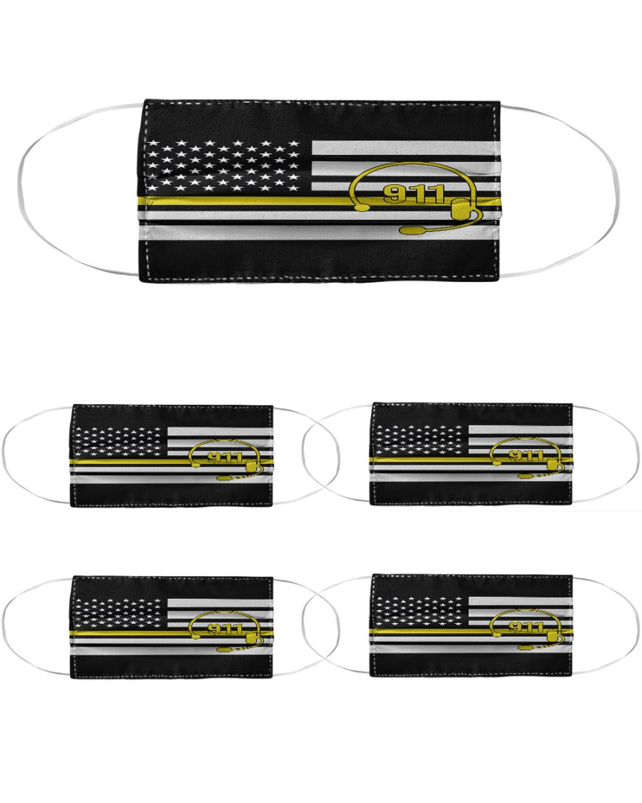 American flag call 911 anti-dust cotton face mask 3