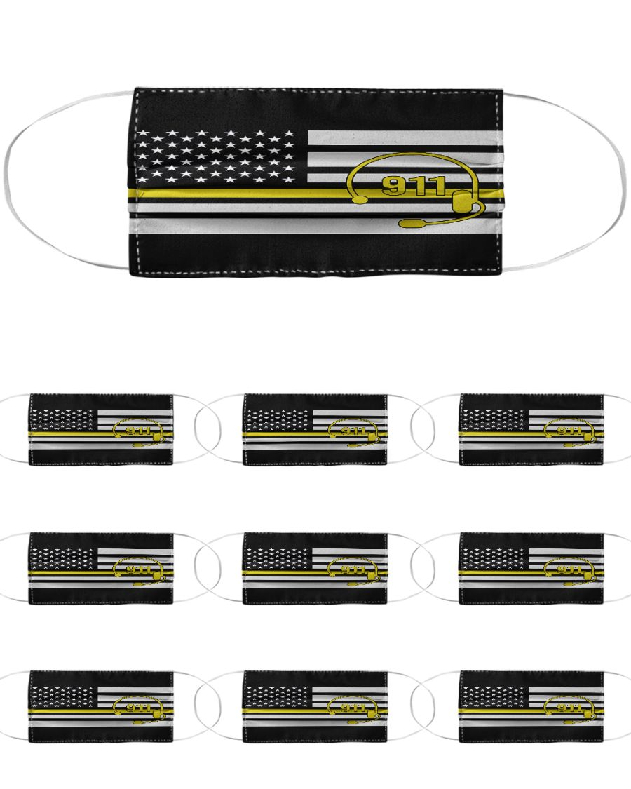 American flag call 911 anti-dust cotton face mask 4