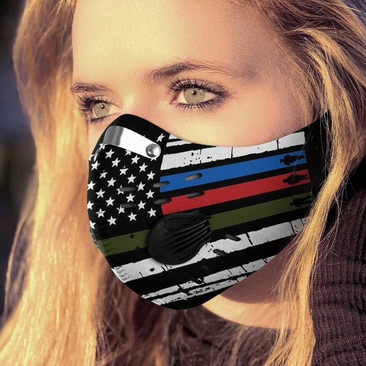 American flag proud pride filter activated carbon face mask 4