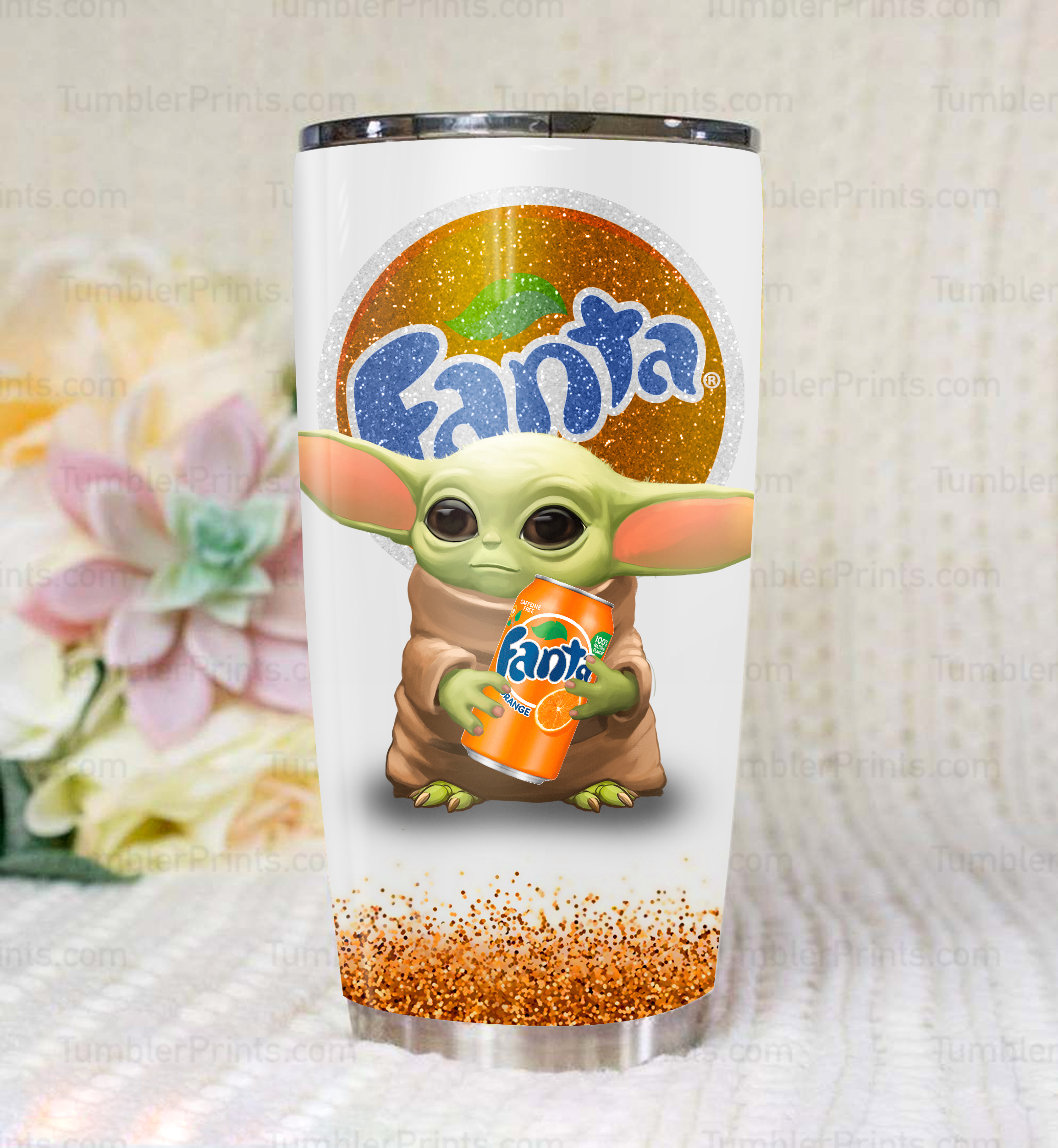 Baby yoda fanta steel tumbler 1