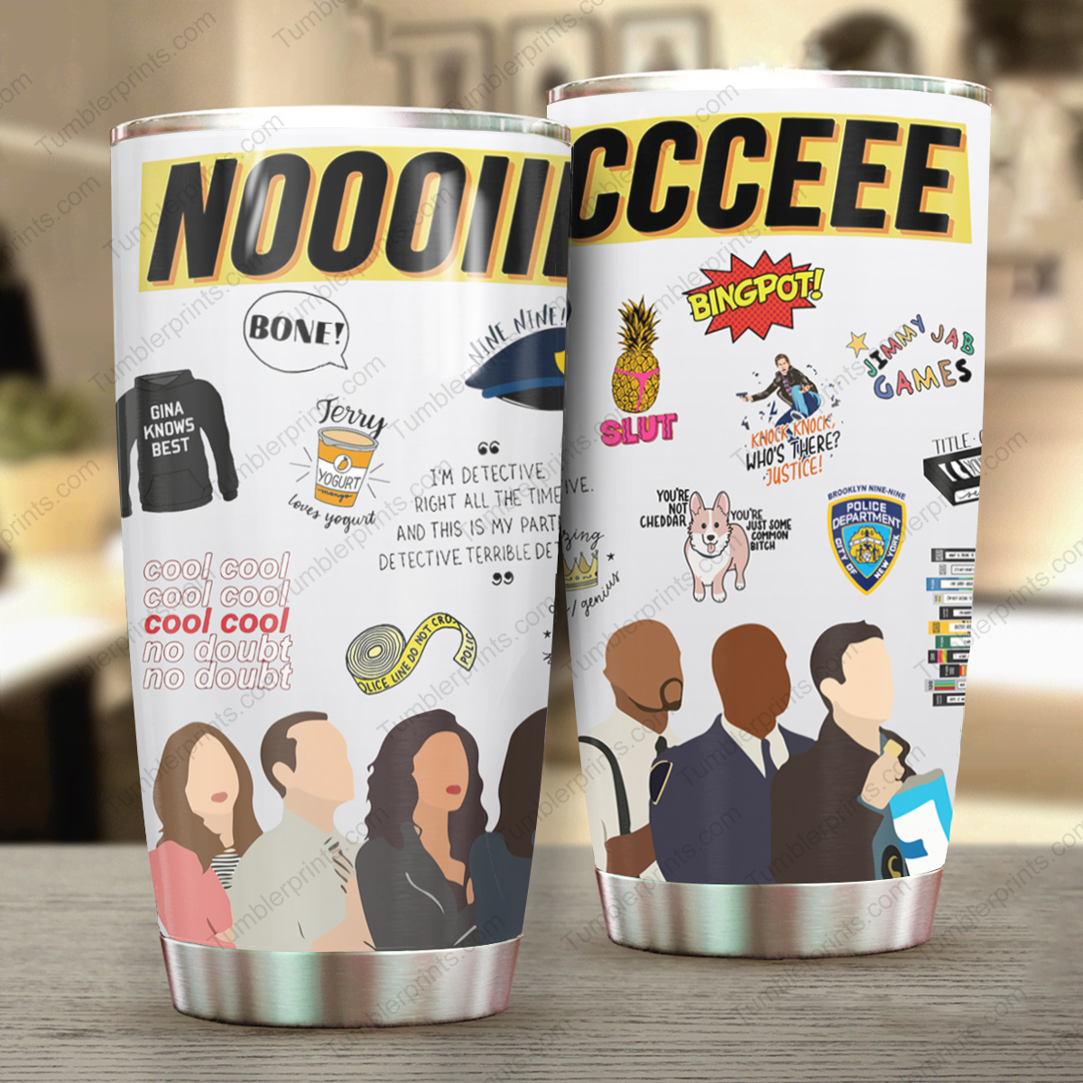 Brooklyn nine-nine full over printed tumbler 4
