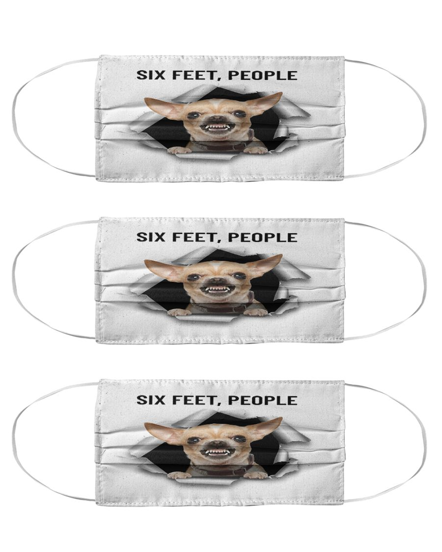 Chihuahua six feet people anti-dust cotton face mask 4