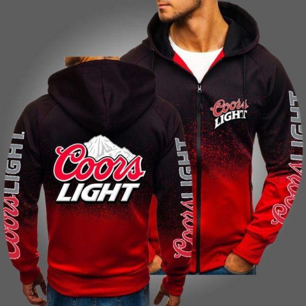 Coors light full over print zip hoodie
