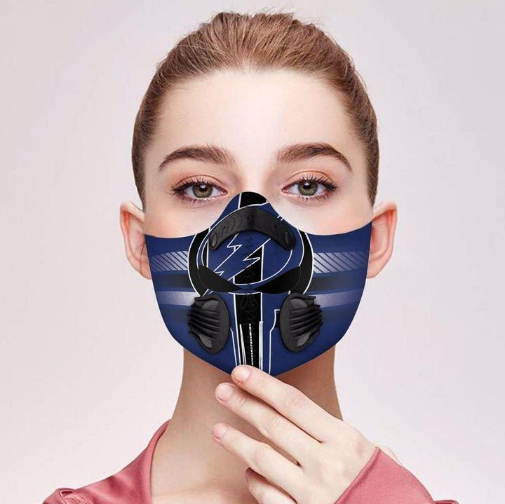 Dallas cowboys grateful dead carbon pm 2,5 face mask 2
