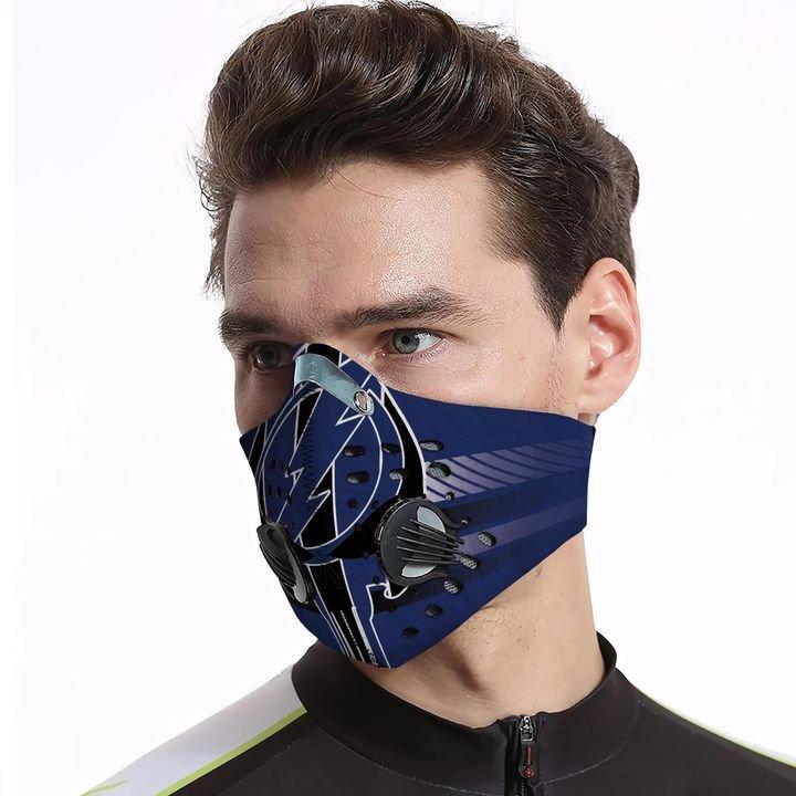 Dallas cowboys grateful dead carbon pm 2,5 face mask 4