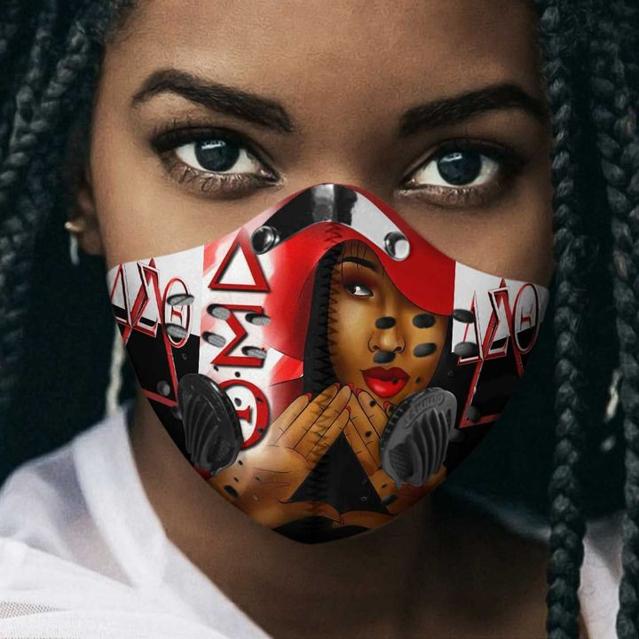 Delta sigma theta sorority filter activated carbon face mask 1