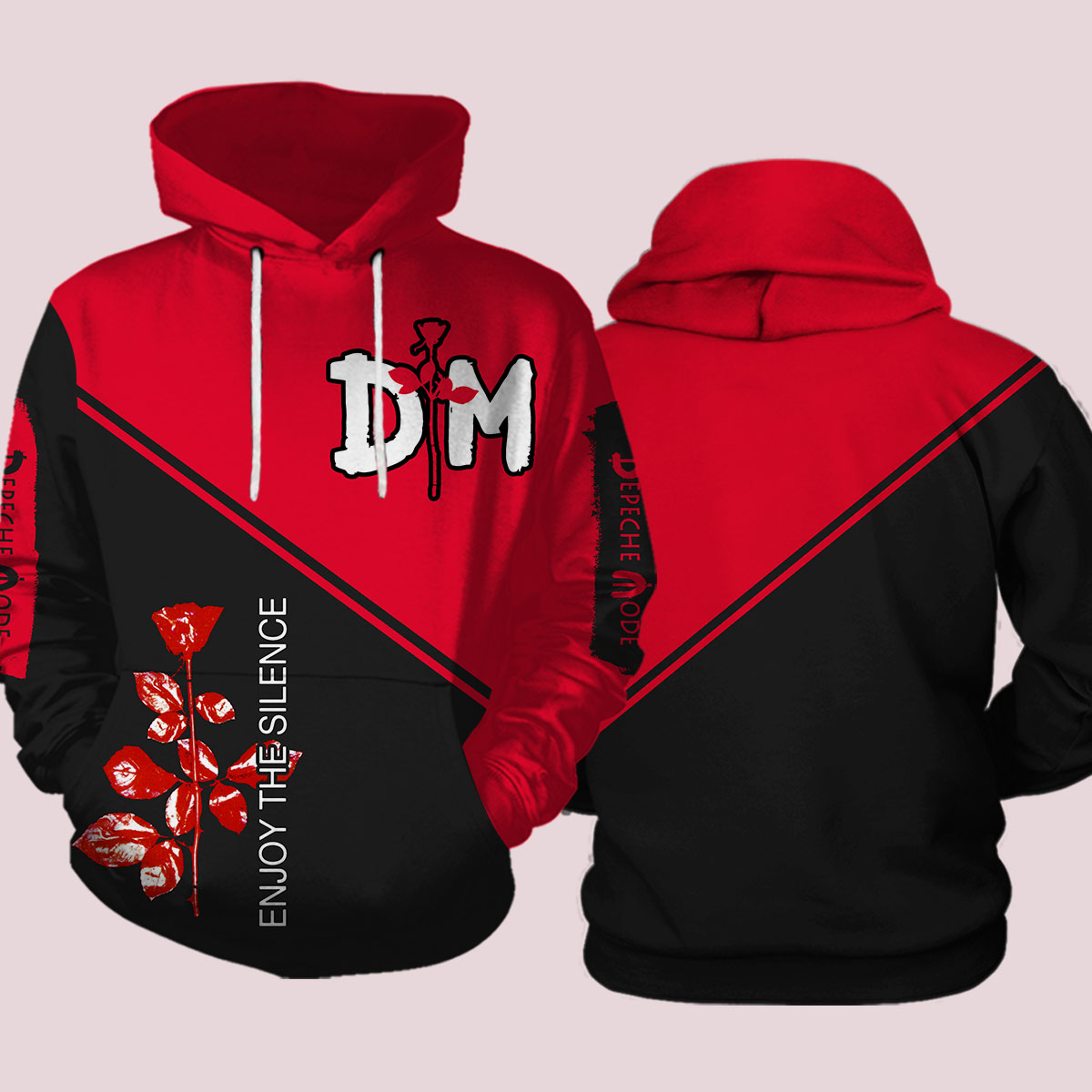 Depeche mode enjoy the silence all over print hoodie