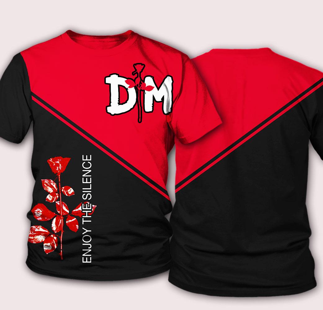 Depeche mode enjoy the silence all over print tshirt