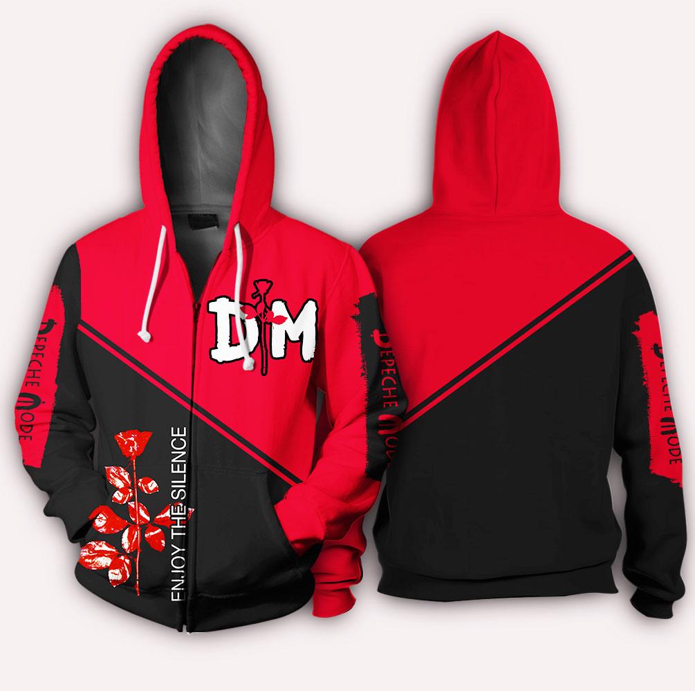 Depeche mode enjoy the silence all over print zip hoodie