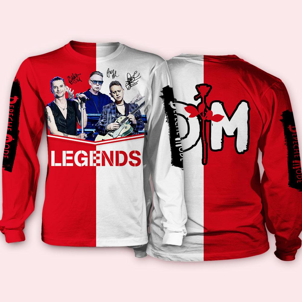 Depeche mode legends full over print sweatshirt