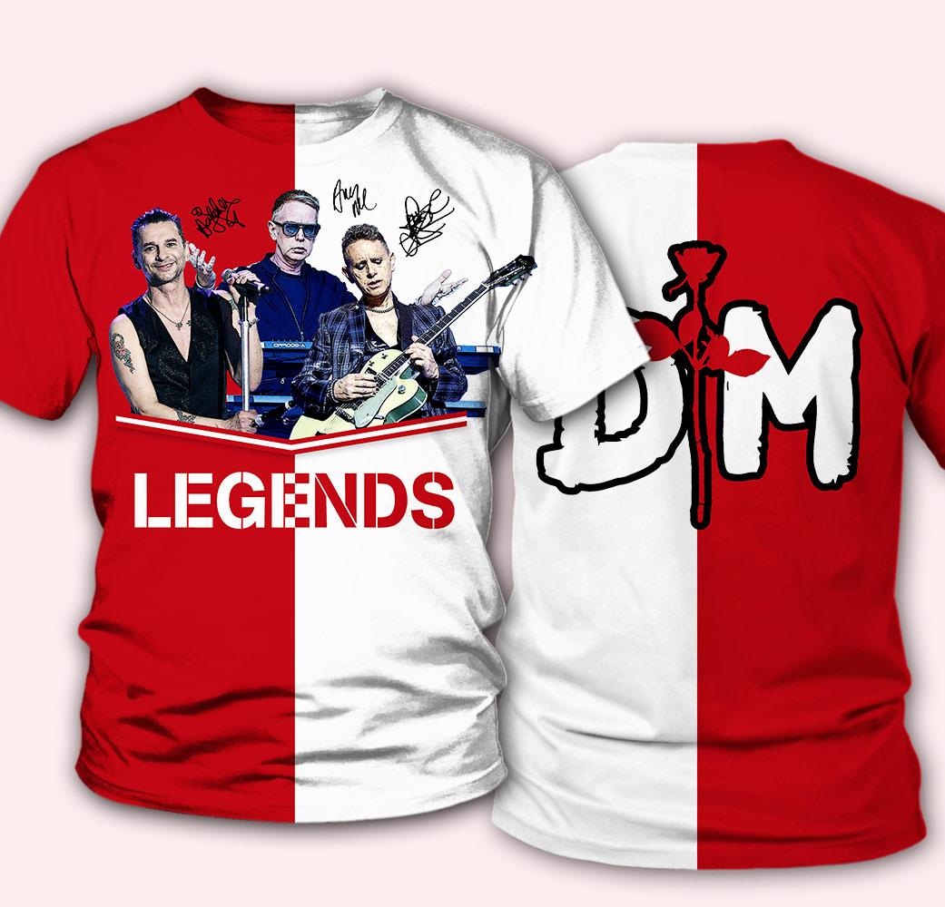 Depeche mode legends full over print tshirt