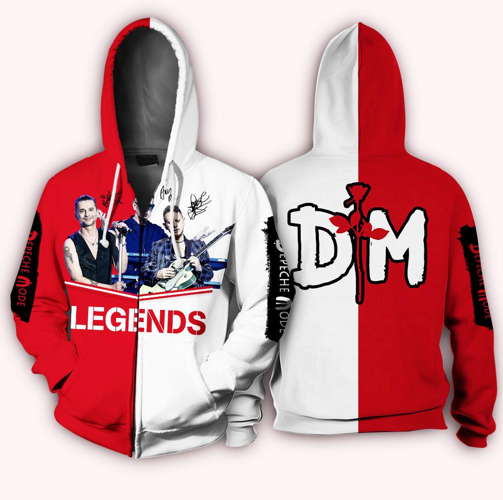 Depeche mode legends full over print zip hoodie