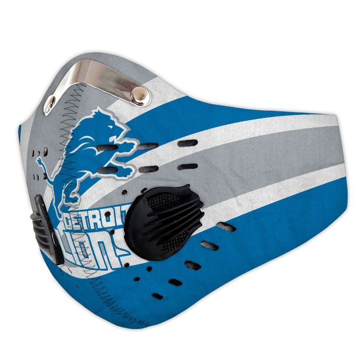 Detroit lions team football filter activated carbon face mask 4