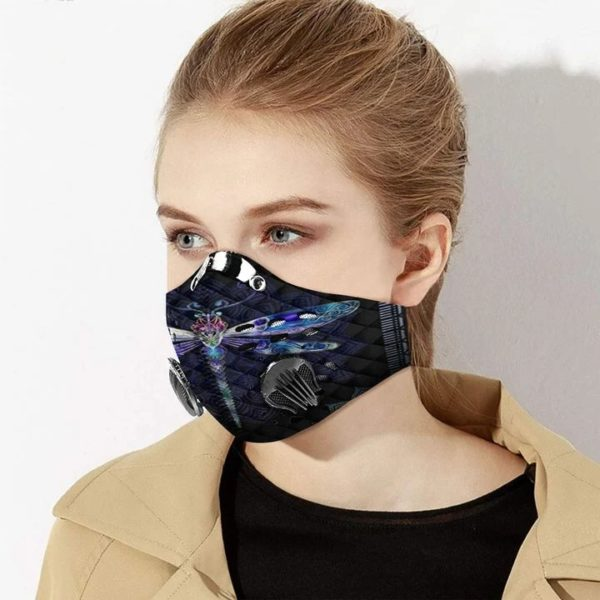 Dragonfly filter activated carbon pm 2,5 face mask 2