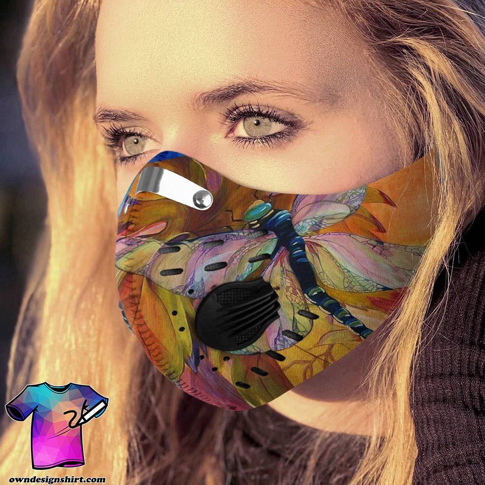 Dragonfly lover carbon pm 2,5 face mask