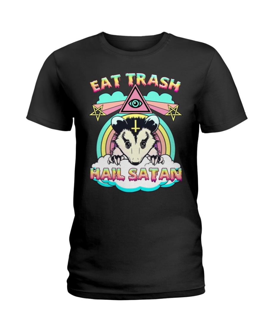 Eat trash hail satan lady shirt