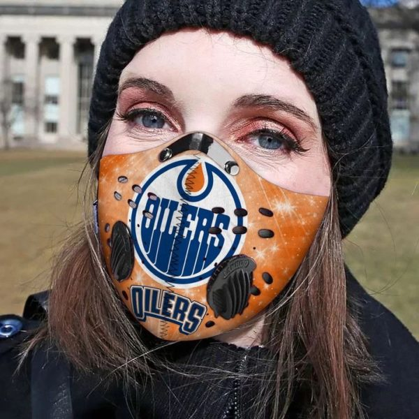 Edmonton oilers filter activated carbon pm 2,5 face mask 1