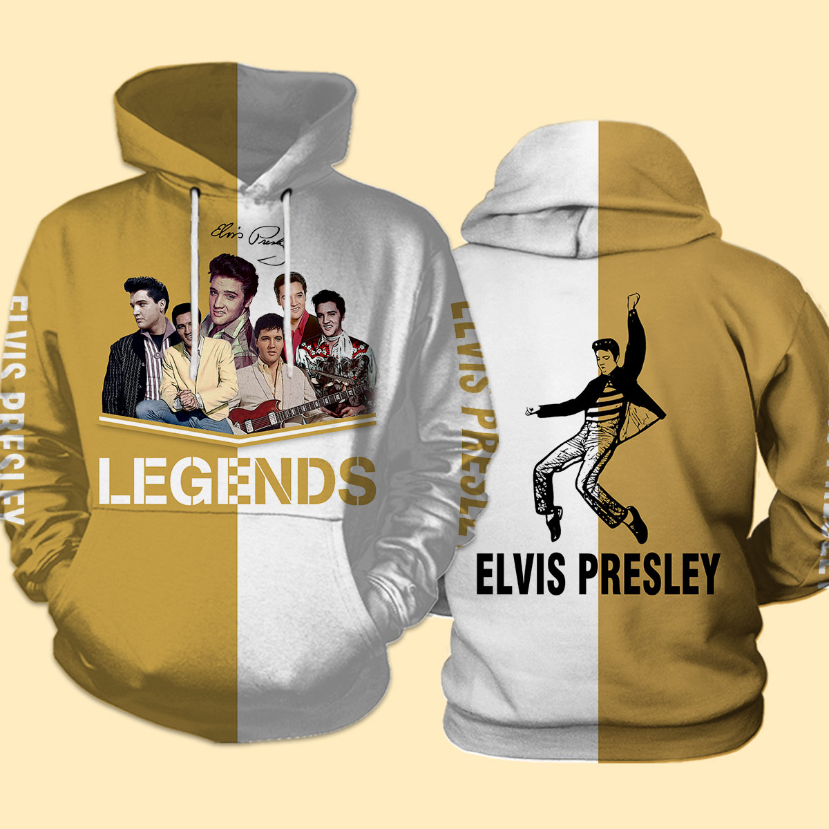 Elvis presley legends full over print hoodie
