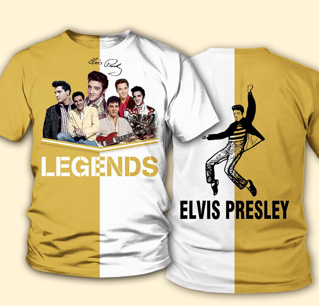 Elvis presley legends full over print tshirt