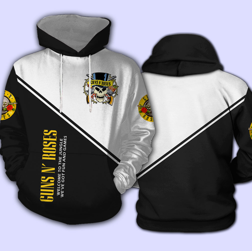 Guns n' roses welcome to the jungle full over print hoodie