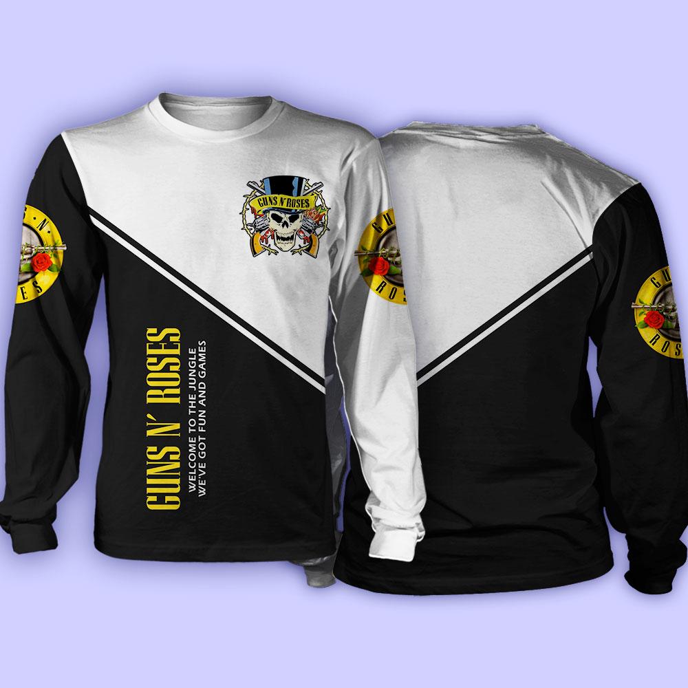 Guns n' roses welcome to the jungle full over print sweatshirt