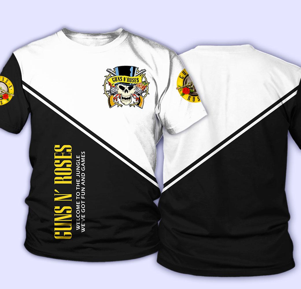 Guns n' roses welcome to the jungle full over print tshirt