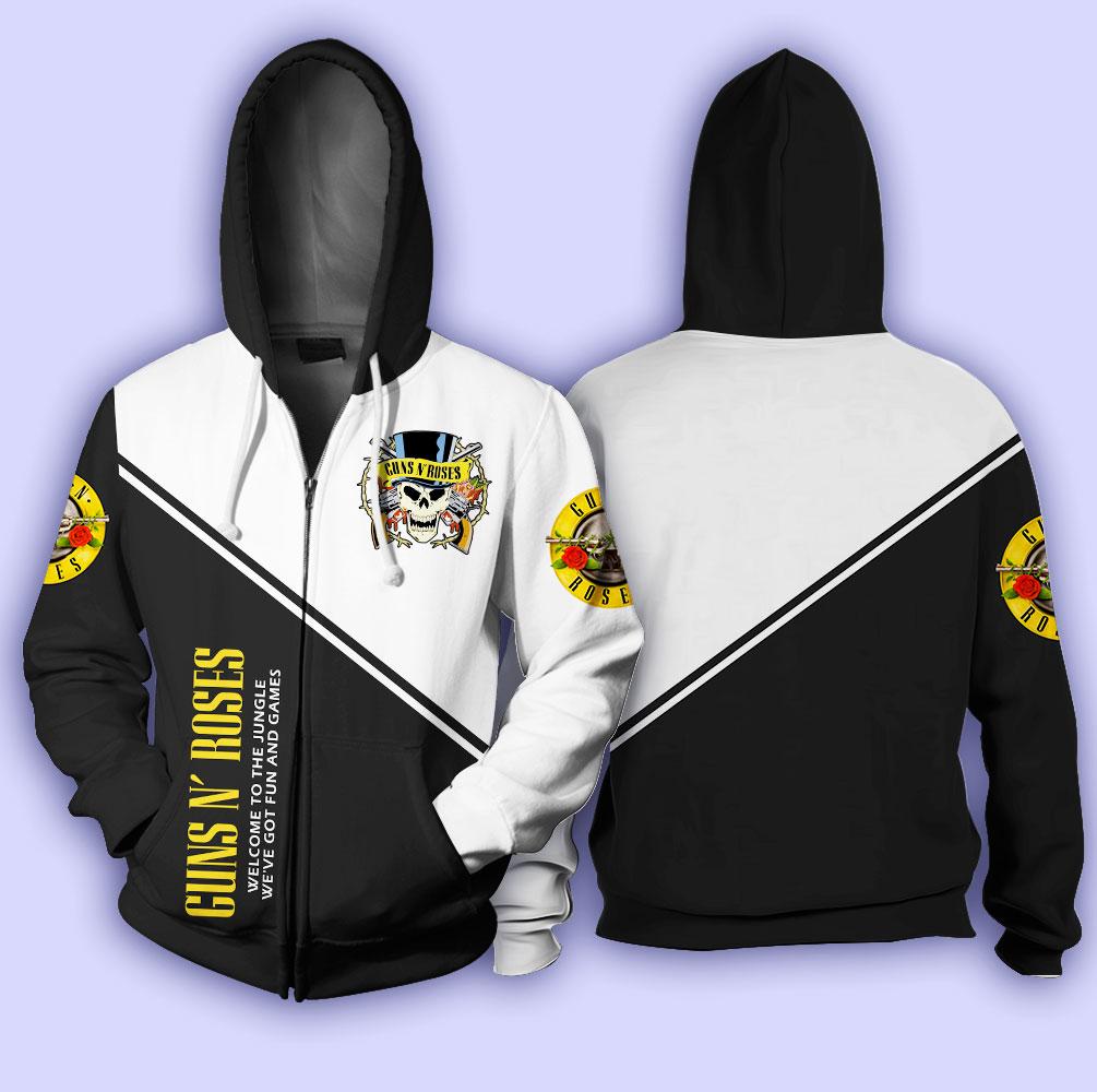 Guns n' roses welcome to the jungle full over print zip hoodie