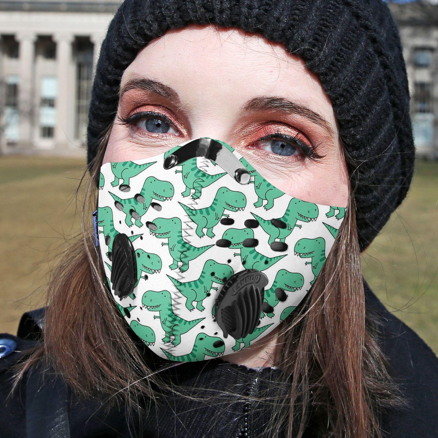 Happy dinosaur carbon pm 2,5 face mask 2