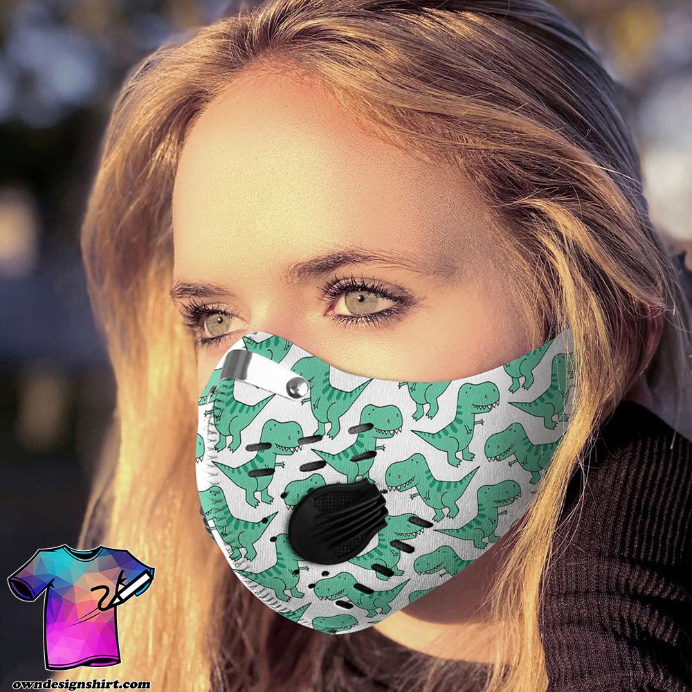 Happy dinosaur carbon pm 2,5 face mask