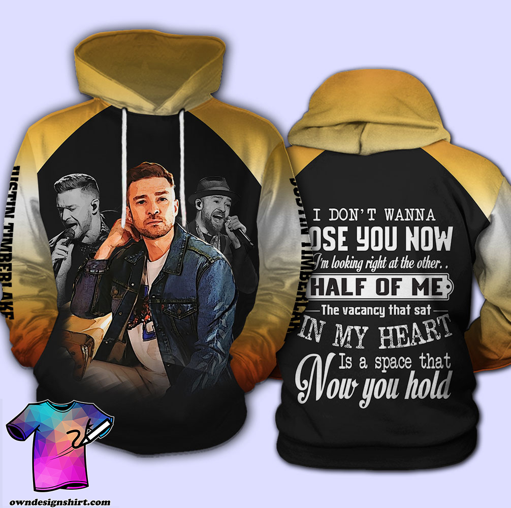 Justin timberlake i don't wanna lose you now all over print shirt