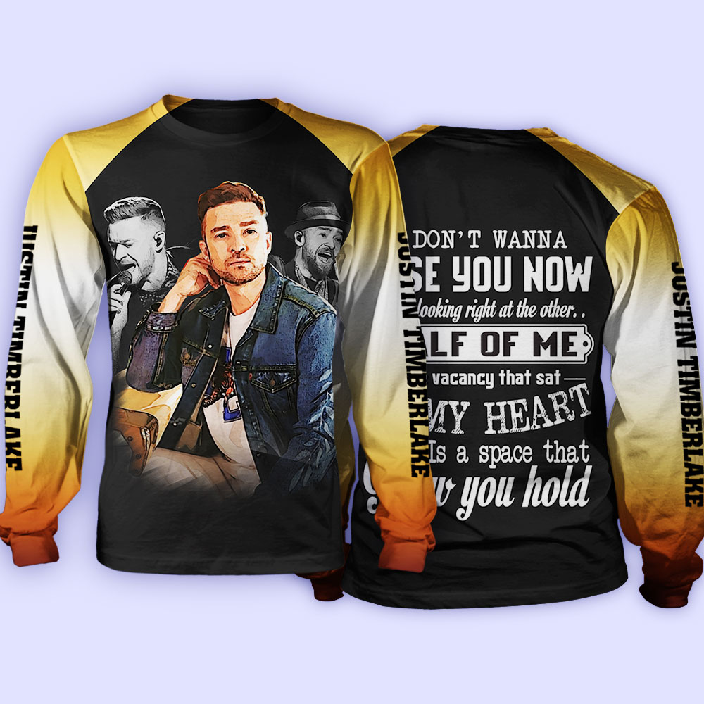 Justin timberlake i don't wanna lose you now all over print sweatshirt